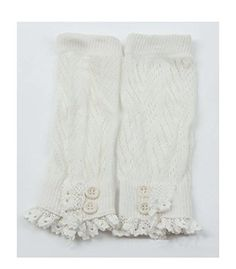 S E Women Crochet Knitted Lace Trim Boot Cuffs Knee Warmer Liner Leg Warmers Socks (WT009-White) Jelinda http://www.amazon.com/dp/B00R60ZQ9W/ref=cm_sw_r_pi_dp_dXd2ub0XE2Z39