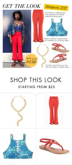 """""""Get the Look: Afropunk Street Style Under $150"""" by polyvore-editorial ❤ liked on Polyvore featuring Melrose & Market, Topshop, Hollister Co., SONOMA Goods for Life, GetTheLook and afropunk"""