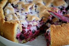Pie with currants (desser recipe recipes, cake) Pie Recipes, Cooking Recipes, Good Food, Yummy Food, Sweet Bakery, Russian Recipes, Sweet Treats, Food And Drink, Baking