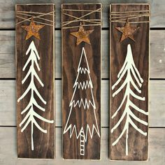 Christmas Tree Signs - Rustic Christmas Decoration - Rustic Home Decor - Wood…