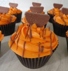 Today's baking... Terry's chocolate orange cupcakes