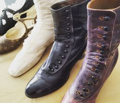 """""""Working on a new video concerning button boots today. Here are a few of my originals."""""""