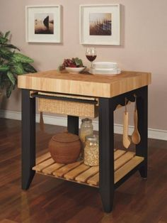 Powell Color Story Black Butcher Block Kitchen Island by Powell Furniture, http://www.amazon.com/dp/B0025U2I3U/ref=cm_sw_r_pi_dp_A6sPqb1PR6Q5T