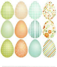Printable Easter Eggs http://blog.worldlabel.com/2014/spring-has-sprung-easter-printable-labels.html