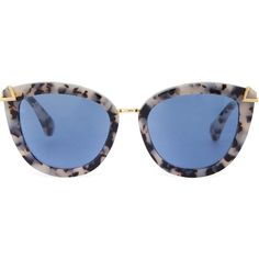 Melrose Milk Tortoise Blue Sunnies (125 CAD) ❤ liked on Polyvore featuring accessories, eyewear, sunglasses, tortoise shell sunglasses, blue glasses, blue sunglasses, tortoise cat eye glasses and polarized cat eye sunglasses