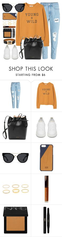 """Young & Wild"" by smartbuyglasses-uk ❤ liked on Polyvore featuring MANGO, Mansur Gavriel, Golden Goose, Quay, Native Union, Becca, NARS Cosmetics, Yves Saint Laurent, Hermès and orange"