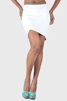 Bardot Asymmetrical Skirt - Mint