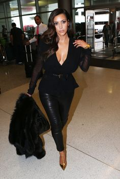 Kim K. All blk erythang wyt a lil touch of color love it!!