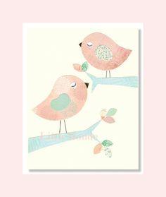 Baby Girl Nursery Art Nursery Art Print Nursery by LittleMonde, $16.00 love the birds!