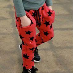 Moda criança meninos calças compridas de algodão teste padrão de estrelas calças Casual Bottoms Hot(China (Mainland))