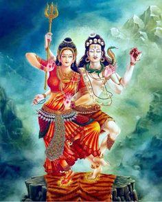 Har Har Mahadev Shiva Parvati Images, Shiva Shakti, Indian Gods, Indian Art, Kali Hindu, Lord Shiva Family, Shiva Tattoo, Kali Goddess, Lord Murugan