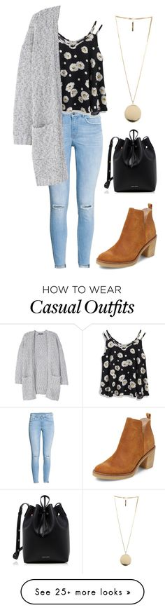 """Casual daisy"" by alicemaelondon on Polyvore featuring H&M, Firth, Chicwish, MANGO, Givenchy and Mansur Gavriel"