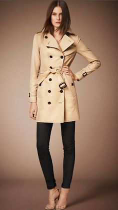 The Trench Coat Classic, timeless, this coat will help you weather any storm. Whether you're on your first post college interview or you're late to meet your new post-grad hire, this one coat will see you through most of life's events. If you live in colder climates, invest in a trench that comes with a warm liner.