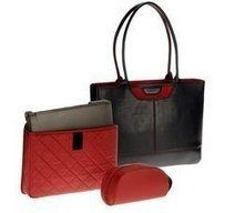 Nunzia Tuscany Designer Leather and Suede Laptop Bag Promotion Today