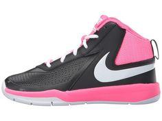 Nike Kids Team Hustle D 7 (Big Kid) Girls Shoes Black/Hyper Pink/White