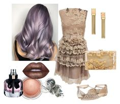 """""""Vintage Prom"""" by jesslor ❤ liked on Polyvore featuring Valentino, MAC Cosmetics, Isolá, Charlotte Olympia, Lanvin, Lime Crime, Yves Saint Laurent and vintage"""