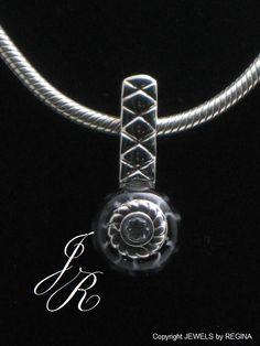 Snowflake pendant 925 sterling silver interchangeable bead snowflake pendant 925 sterling silver interchangeable bead jewelry reginasdreamcreation on etsy 15500 pinterest charm bead beads and pendants aloadofball Choice Image