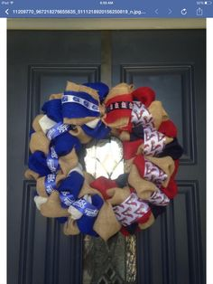 A personal favorite from my Etsy shop https://www.etsy.com/listing/234506523/cardinals-and-royals-wreath