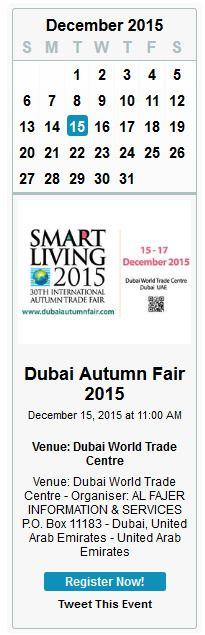 dubai autumn fair 2015 calender