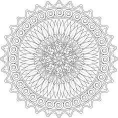 Kindled Love Mandala Coloring Page By Varda K. - (mondaymandala)