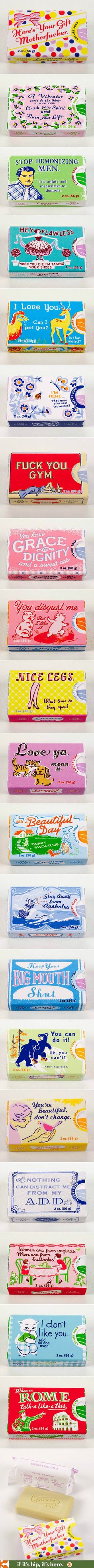 Sassy Soap packaging.