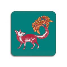 Avenida Home Puddin' Head Fox Coaster