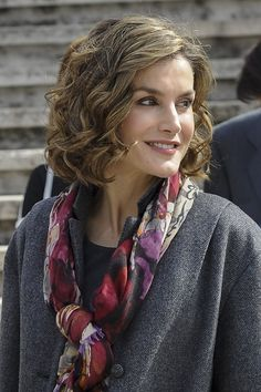 Queen Letizia at the opening of the