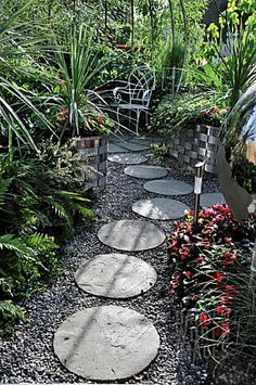 rock path with round stones