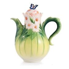 Franz Porcelain Collection Cosmos and Butterfly Porcelain Teapot | FZ03043