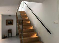 Trapleuningen en balustrades - BD RVS Designs Glass Stairs Design, Small Staircase, House, Home Decor, Stairs, Decoration Home, Home, Room Decor, Home Interior Design
