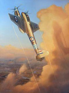 Heavenly Hornet, by Gareth Hector (De Havilland DH 103 Hornet)