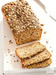 Paleo Grubs Paleo Grubs - Not to worry: your ultimate Paleo bread recipe is here! We've saved your sandwiches by supplying you with this recipe for seed and nut bread that will leave you with more ta