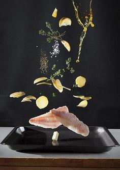 Série de receitas apresentados com ingredientes flutuantes - FoodiesFeed
