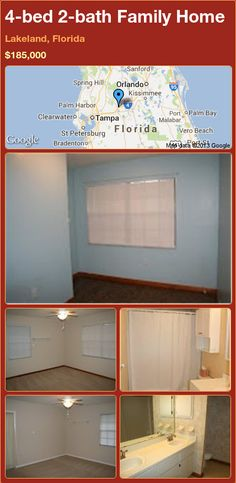 4-bed 2-bath Family Home in Lakeland, Florida ►$185,000 #PropertyForSale #RealEstate #Florida http://florida-magic.com/properties/21896-family-home-for-sale-in-lakeland-florida-with-4-bedroom-2-bathroom