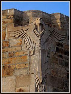 National Shrine of the Little Flower: Art Deco Angel Sculpture