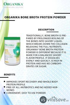 Organika Bone Broth Chicken Protein Powder 300 g Bone Broth Protein Powder, Chicken Protein, Chicken Bones, Leaky Gut, Ibs, Gut Health, Juicing, Paleo Diet, Collagen
