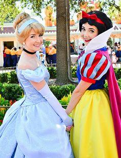 Princess Cinderella and Princess Snow White