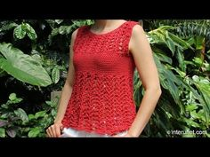 Crochet a women's strappy summer top with braided straps and the belt - YouTube