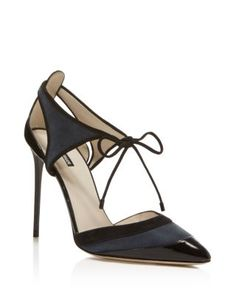 Giorgio Armani Ankle Tie d'Orsay Pointed Pumps  | Bloomingdale's