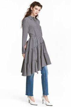 Epäsymmetrinen mekko - Musta/Valkoruudullinen - Ladies | H&M FI 1