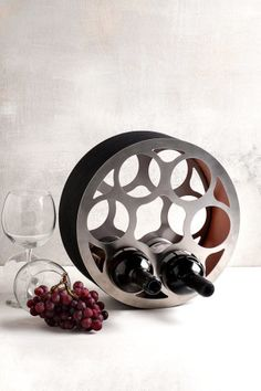 This unique industrial structure doubles as both wine rack and home decor, adding a modern feel to any room.