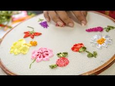 Start to learn embroidery with these 10 RIBBON EMBROIDERY FLOWERS: This Ribbon embroidery tutorial is suited for both Beginners and Experts. Ribbon embroidery is a 3 dimensional embroidery in which you stitch beautiful designs with ribbons on the needle i Ribbon Embroidery Tutorial, Embroidery Leaf, Learn Embroidery, Silk Ribbon Embroidery, Embroidery For Beginners, Hand Embroidery Patterns, Embroidery Stitches, Knitting Patterns, Débardeurs Au Crochet