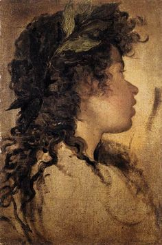 Diego Velasquez, Study for the Head of Apollo, 1630. It's interesting to me that she almost looks disgusted..