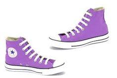 purple high top converse- love