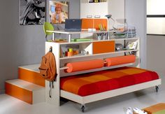 Aménager petite chambre - meubler chambre peu spacieuse - déco petite chambre   La maison de A à Z