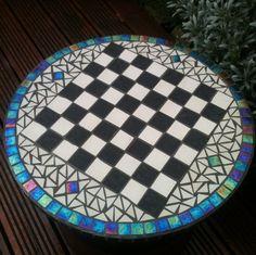 Mosaic Chess Board for Dan.
