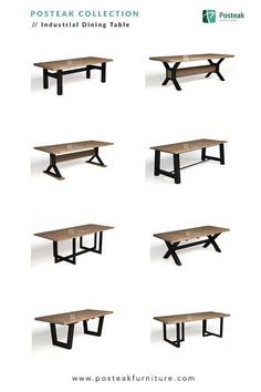 Indonesia Furniture - Industrial Dining Table, mad... - #Dining #Furniture #indonesia #Industrial #mad #table