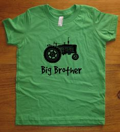 Big Brother #Shirt - 5 #Colors #Available - Kids Big Brother Tractor T shirt Size,  View more on the LINK: http://www.zeppy.io/product/gb/3/113842352/