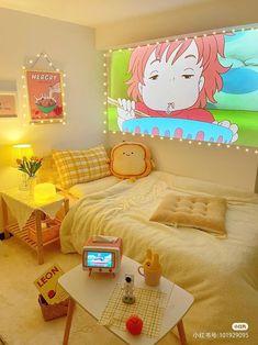 Indie Room Decor, Cute Bedroom Decor, Room Design Bedroom, Aesthetic Room Decor, Room Ideas Bedroom, Cozy Aesthetic, Aesthetic Japan, Room Ideias, Kawaii Bedroom