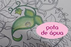 Floresta Encantada: como fazer gota nas folhas